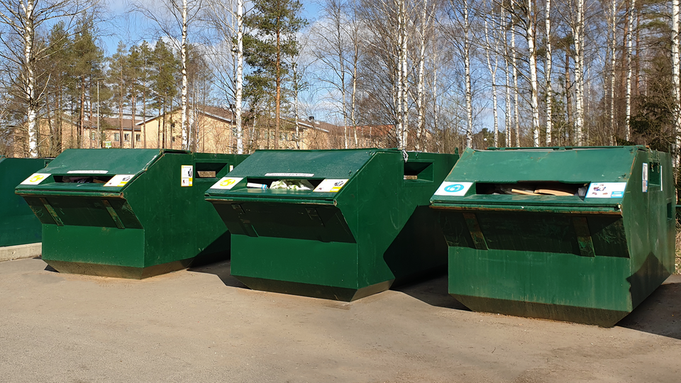 A recycling site.